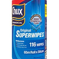 Chux Commercial Original Wipes SuperWipes 65m roll x 30cm - 116 Wipes Free Post