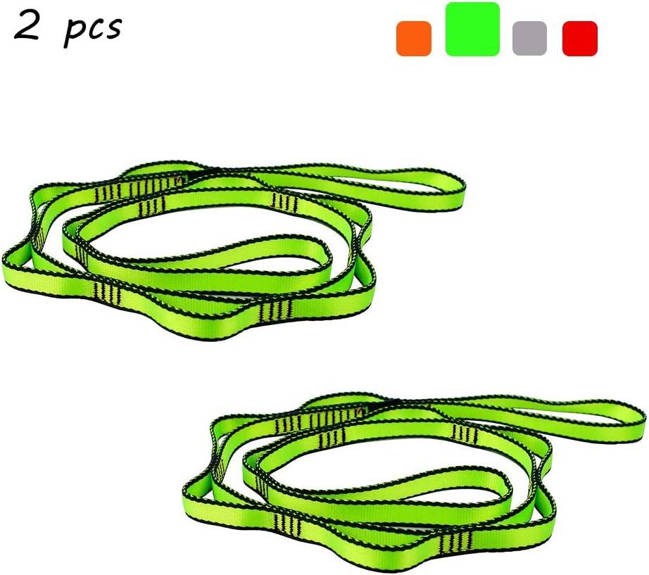 SAIVEN Daisy Chain Aerial Yoga Strap with 8 Loops Slackline Nylon Webbing Climbing Sling 2 Pcs