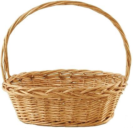 Wald Imports Brown Willow Decorative Storage Basket