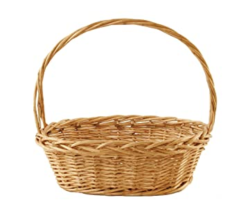 Marvelous Wald Imports Brown Willow Decorative Storage Basket