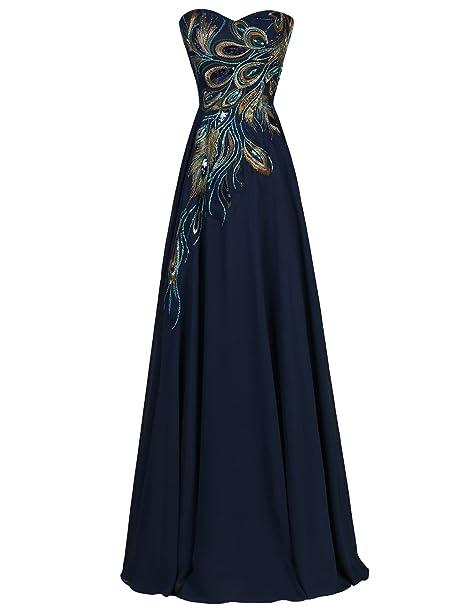 Quissmoda vestido corto largo fiesta, noche, gala, talla 34, color azul marino
