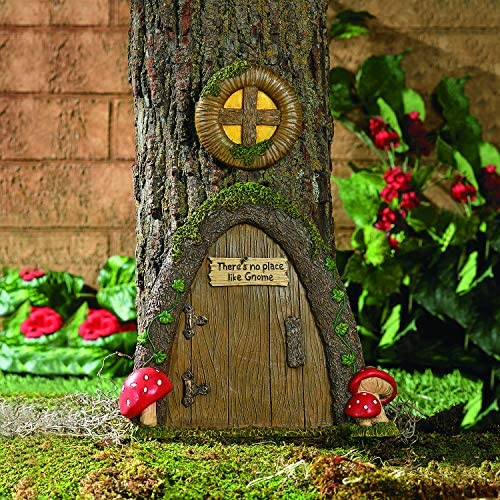 Fun Express Garden Gnome Home Door in a Tree Art Pieces Outdoor Yard Decor