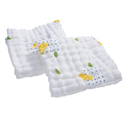 Decdeal 2pcs Toalla de Bebé Suave Absorbente,100% Orgánica Toallitas para Bebé,Toallita
