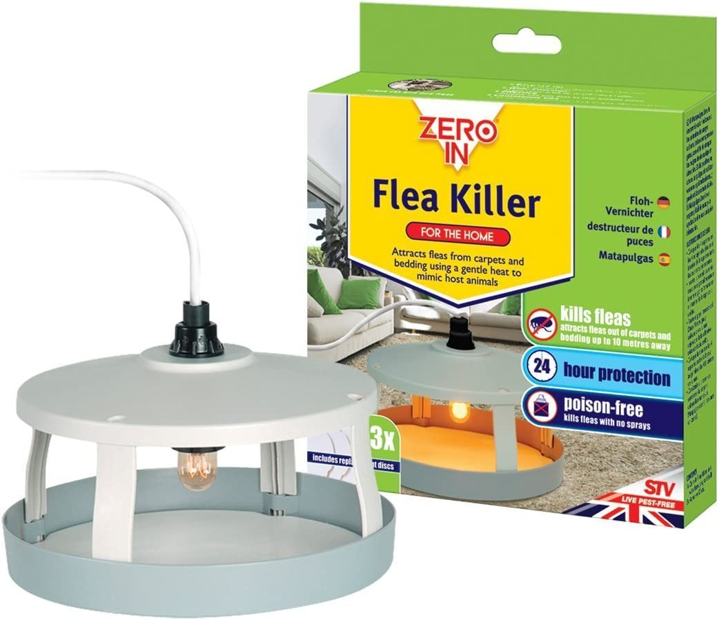 Zero In Flea Killer Mains Powered Effective Flea Killer For The Home Targets Bedding And Carpets Over A 10 M Radius
