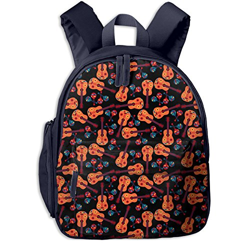 Funny Guitar Music Lover Kids' Lightweight Canvas Travel Backpacks School Book Bag by Wodehous Adonis