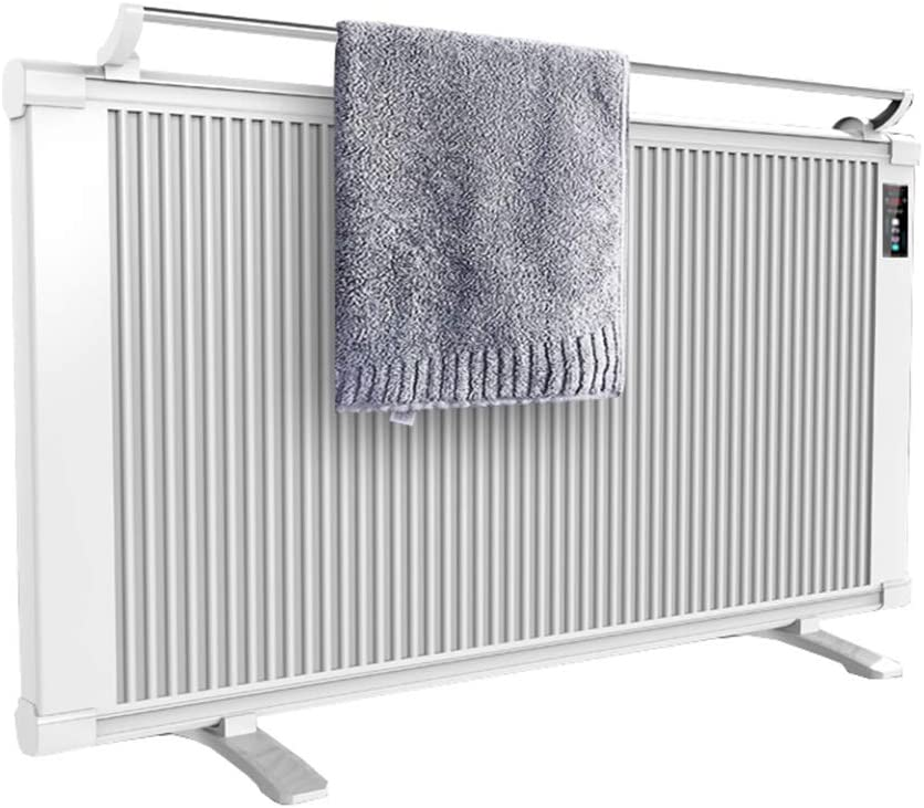 XLOO 600-1200 Watt Electric Panel Heater, Mica Thermic Panel Heater, LED Display, Fast Heating of Carbon Fiber, Low Noise, Floor Standing/Wall Mounting