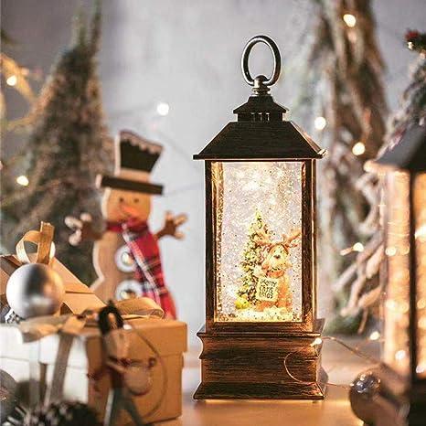 Luz De La Caja De Música De Navidad LED Adornos Navidad Rusticos Decoracion Niños Caja De Musica,A: Amazon.es: Deportes y aire libre