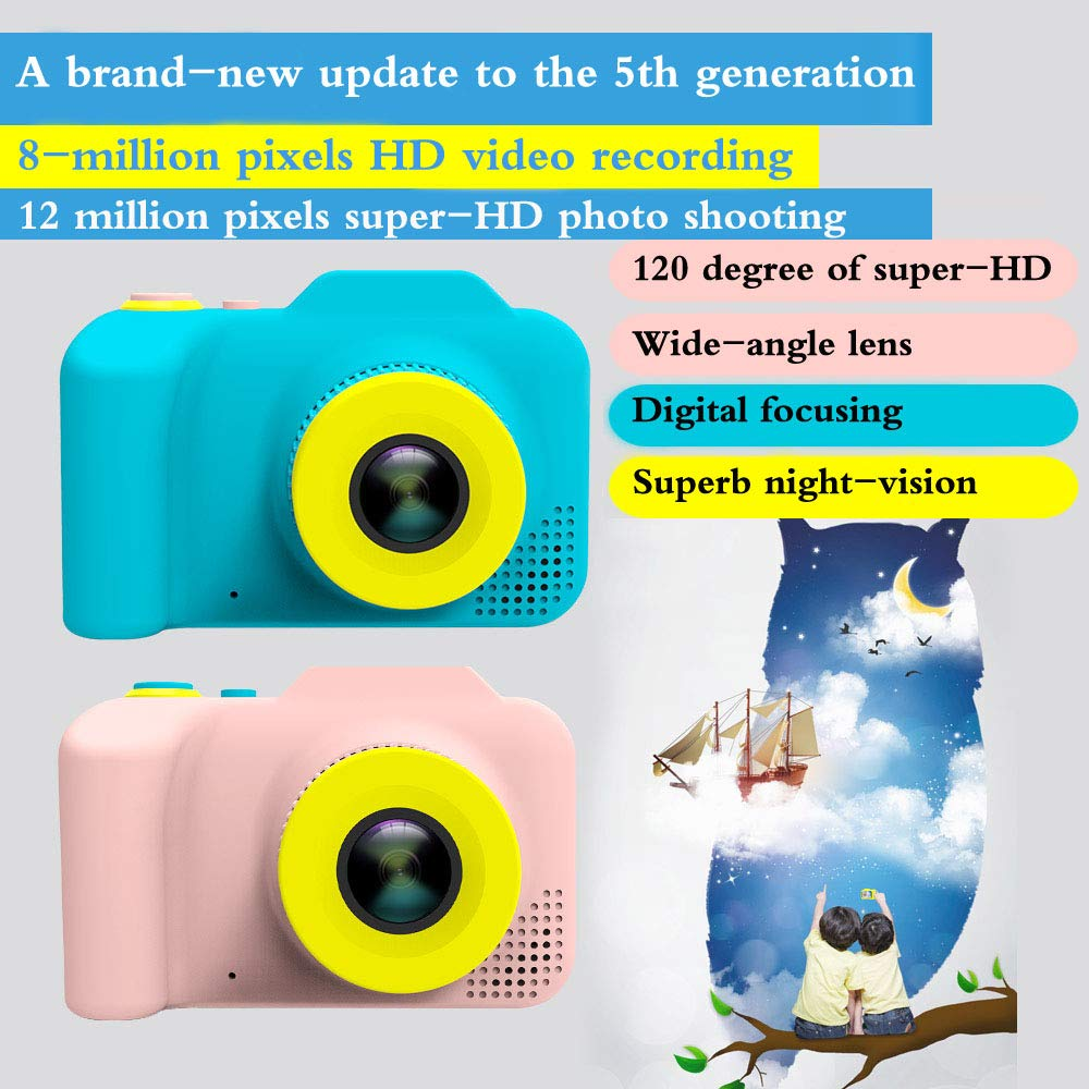 [Upgraded]Kids Camera 1080P Rechargeable Digital Front and Rear Selfie Camera Child Camcorder for Outdoor Play, for 3-10 Years Old Children(Barbie Pink) by HYKT (Image #4)