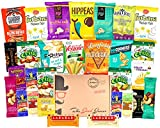 GLUTEN FREE and VEGAN Healthy Snacks Care Package (28 Ct): Plant-Based Snacks, Bars, Chips, Crispy Fruit, Nuts Trail...