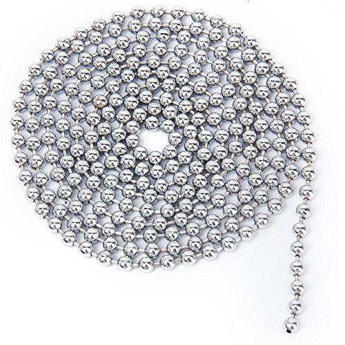 Vellhater 2.4mm Stainless Steel Ball Beaded Chain Ornaments (Silver)