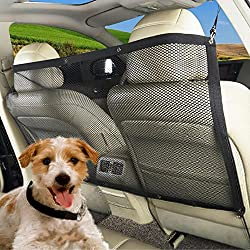 Pets Dog Protective Accessaries Car Back Seat Net Outgoing Barrier Screen to Keep Pet in BackSeat