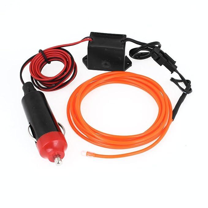 Orange Neon Light Glow El Draht Seil w Ladegerät 1,5 m: Amazon.de: Auto