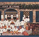York Wallcoverings Vintage French Cooking School Restaurant Cooks On Brown Wallpaper Border Retro Design, Roll 15' X 8'' / Size:8'' by 5 yards White