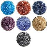 Caribbean Designer Coarse Frit Collection - 7 Colors, 90 COE, Bullseye Glass Sampler Pack