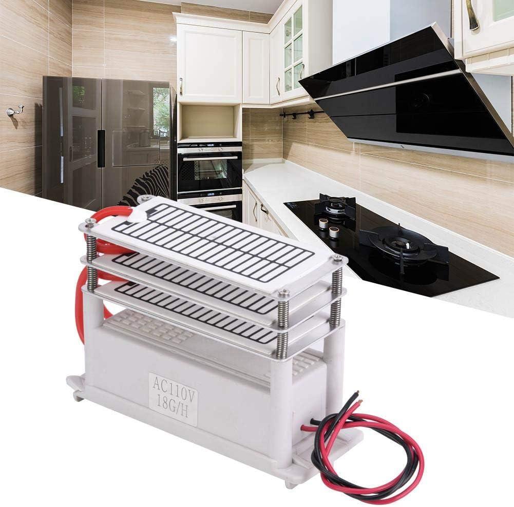 Generador de ozono, 18g Generador de ozono Integrado Purificador de olores de Limpieza de Placas de cerámica para el hogar(220V): Amazon.es: Hogar