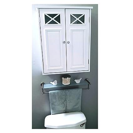 White Wall Mount Cabinet Storage Farmhouse Bathroom Organizer Shelf Vintage  Antique Medicine SpaceSaver & eBook OISTRIA - Amazon.com: White Wall Mount Cabinet Storage Farmhouse Bathroom