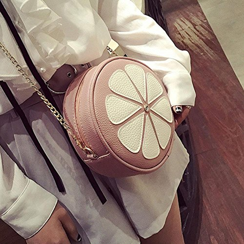 Tassel Bags Shoulder Cross Bag Body Mini Bag Chain Pink Messenger Women Handbag Domybest Round Fashion Rqw4z8f