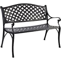 Gardeon Outdoor Garden Bench Chairs Seats Metal Patio