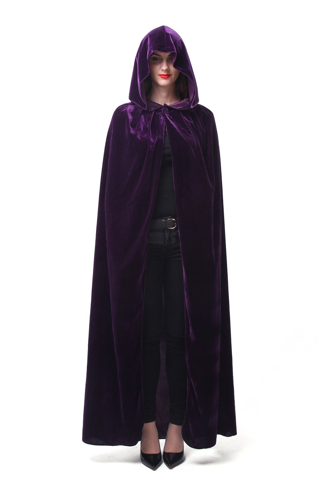 Nuoqi Mens Halloween Costumes Unisex Adults Cosplay Purple Cape Cosplay Costumes