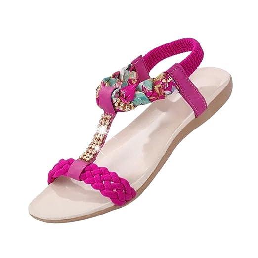 Damenschuhe Sommer Sandalen Bequeme Schuhe Frauen Hausschuhe Bequeme Bohème  Sexy Sandalen Flip Flop Zehentrenner: Amazon.de: Bekleidung