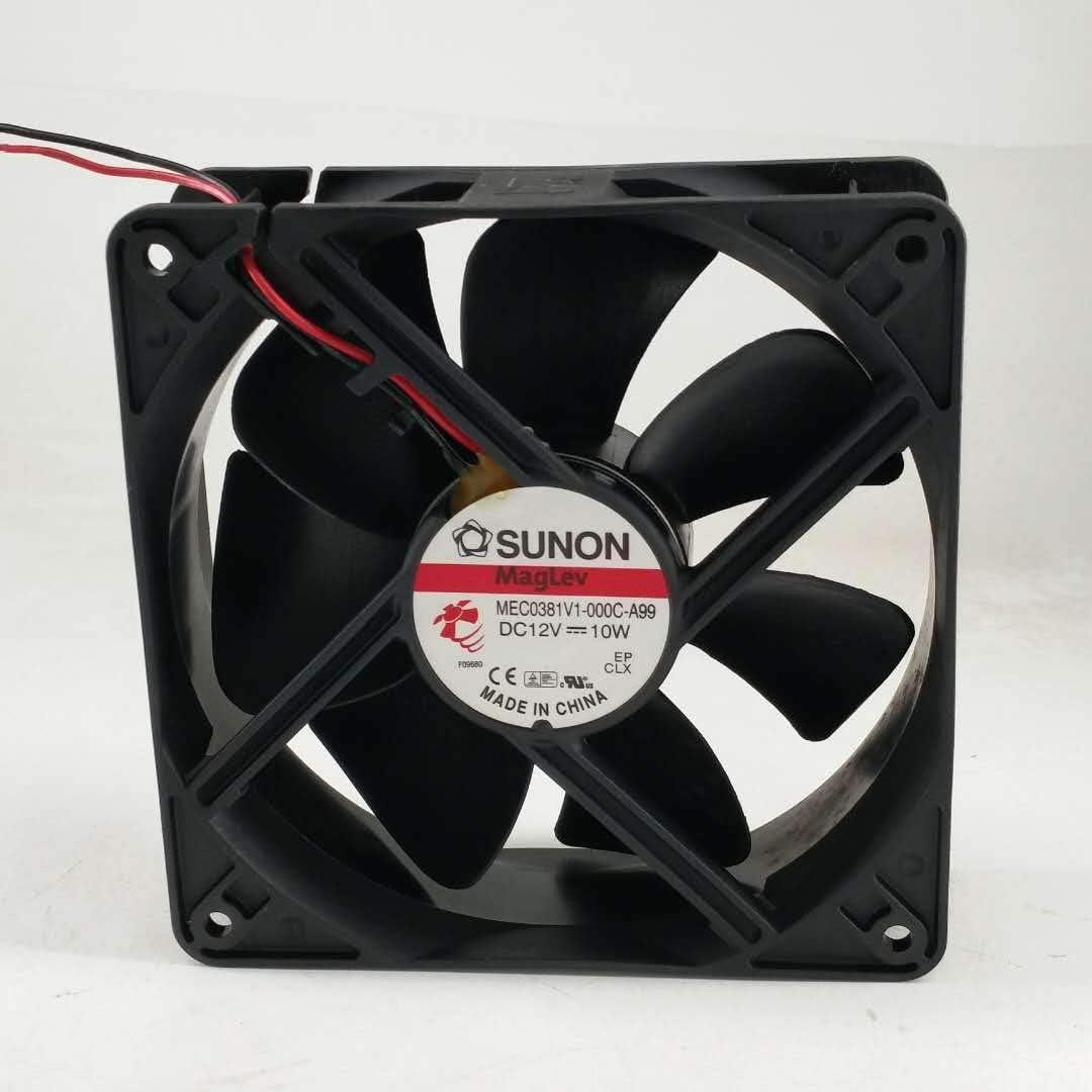 for SUNON MEC0381V1-000C-A99 DC12V 10W 12038 12CM Cooling Fan