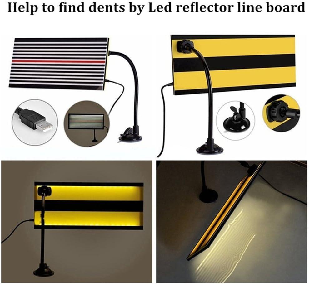 GS PDR herramientas reflector LED rayas l/ínea Junta equipo de reparaci/ón de abolladuras herramienta de reparaci/ón de eliminaci/ón con Ajustment Holder Luz Blanca