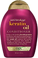 OGX Anti-Breakage + Keratin Oil Fortifying Anti-Frizz Conditioner for Damaged Hair