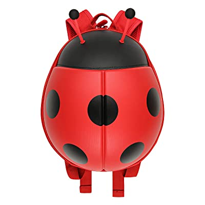 ladybird Little Kids School Bag Toddler Backpack cute animal Chafer Ladybug bag for Kindergarten children (red) | Kids' Backpacks