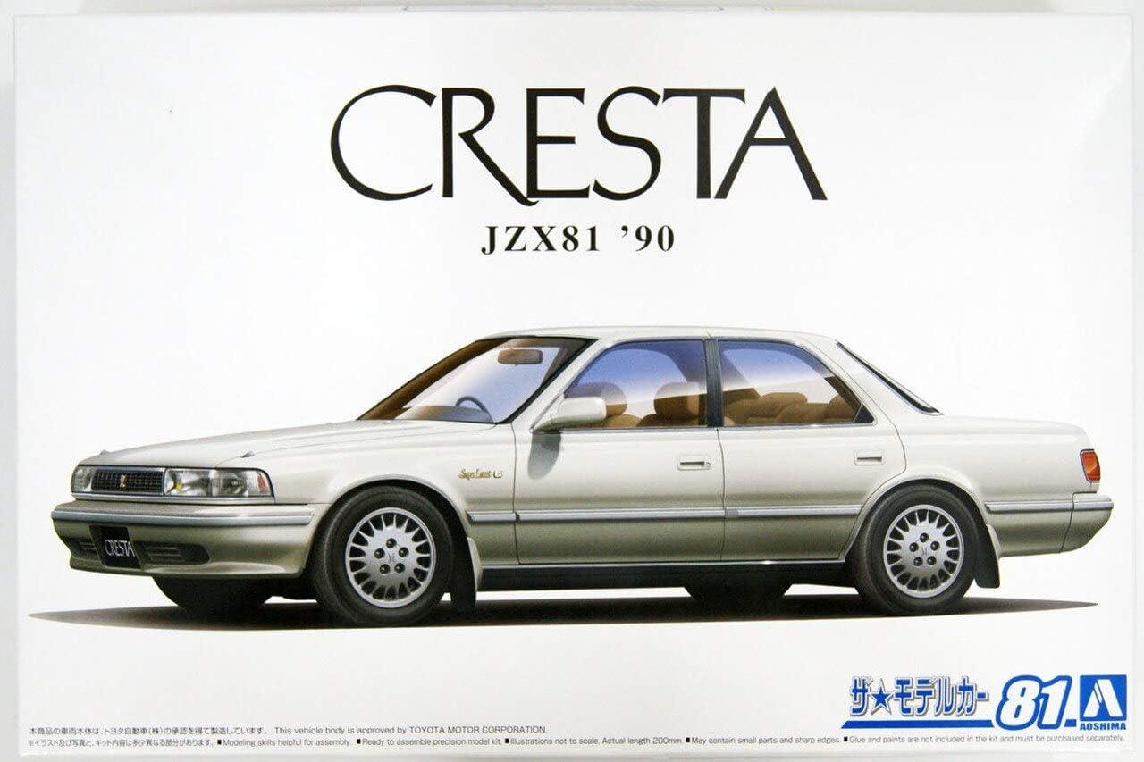 Plastic Model Buiding Set # 59258 Aoshima 1//24 Scale JZX81 Cresta 2.5Super Lucent G 90