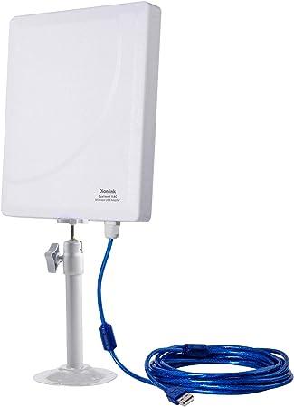 Dionlink N519D - Tarjeta de Red inalámbrica (2,4 G/150 Mbps + 5G/433 Mbps, Rango Largo, Adaptador WiFi USB, Extensor de Alta Ganancia, Antena WiFi ...