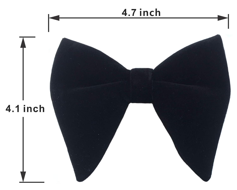 0a26ab8dbd3 Amazon.com  Mens Pre-Tied Oversized Bow Tie Tuxedo Velvet Bowtie Cufflinks  Hankie Combo Sets (Black)  Clothing