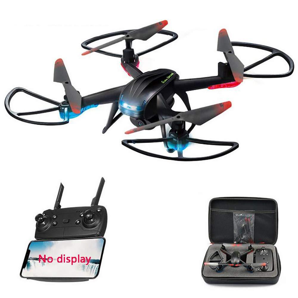 Muzili-Vehículo Aéreo No Tripulado Anti-Drop Avión Drone Aviones De Cuatro Ejes LED + 720 Cámara HD Niños De Control Remoto Aviones (Caja De Almacenamiento De Regalo)