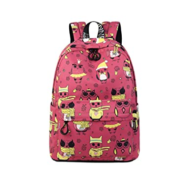 Amazon Com Waterproof Cute Backpack For Girl Print School Bag