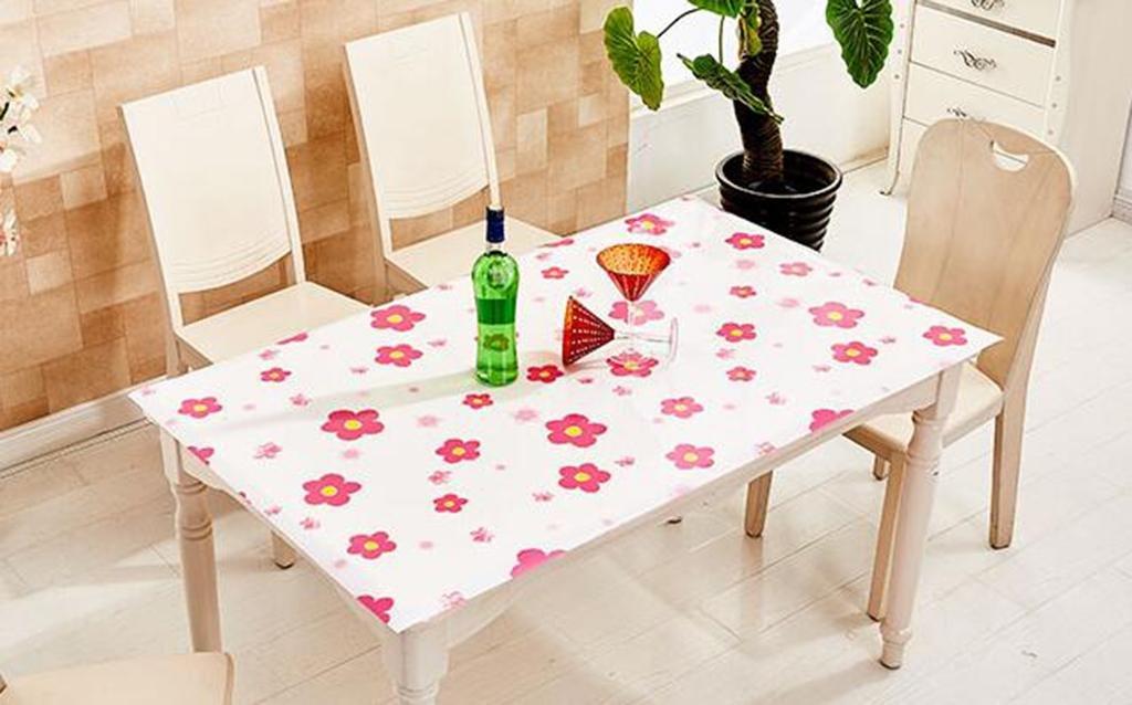 DZW Tovaglia Impermeabile Plastica Trasparente In Pvc Rosso Olio Anti-Caldo Applicabile Al Tavolino Tavolo Da Pranzo Partito , 90120cm, Costo effettivo