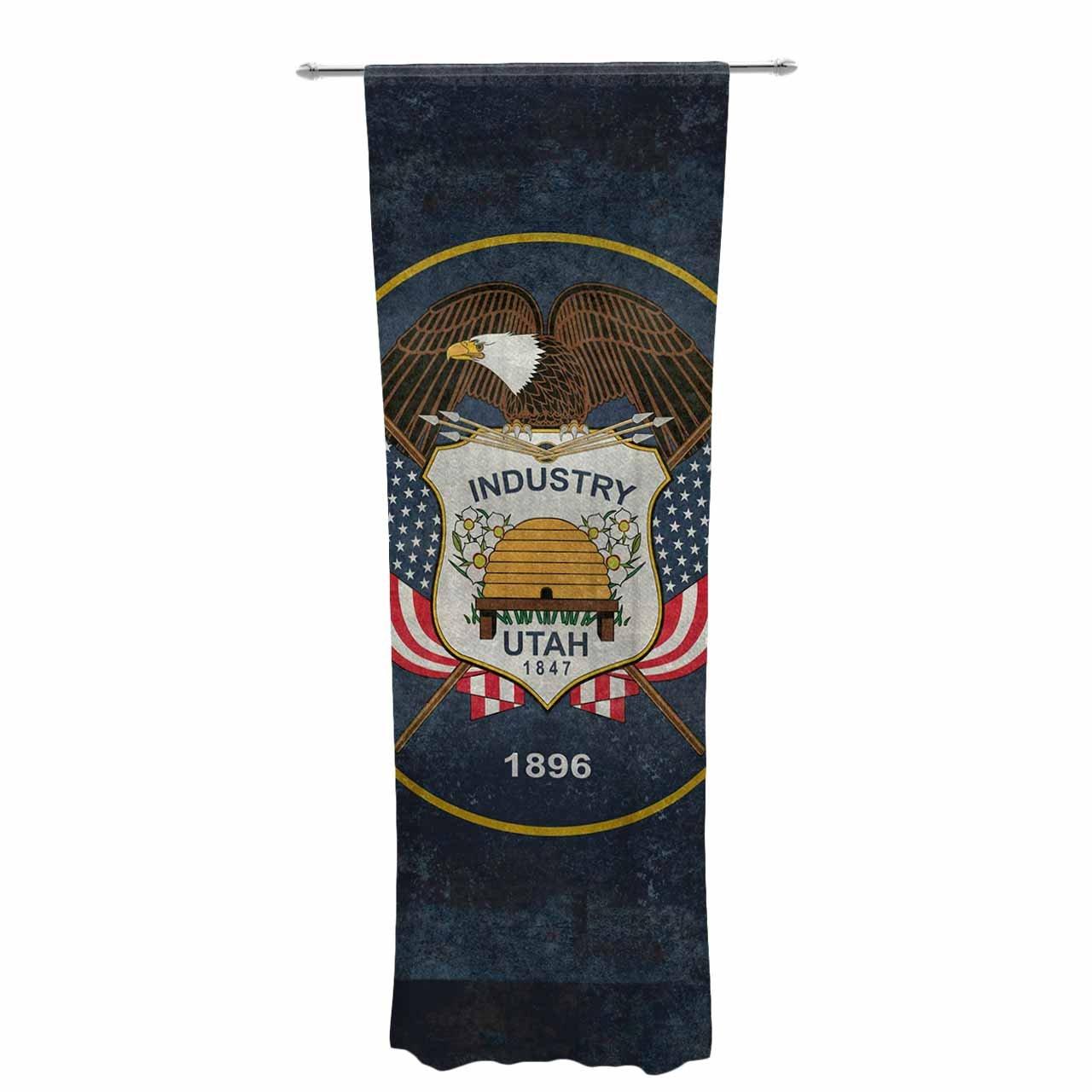 Kess InHouse Bruce Stanfield Vintage Utah Sheer Curtains 30 x 84