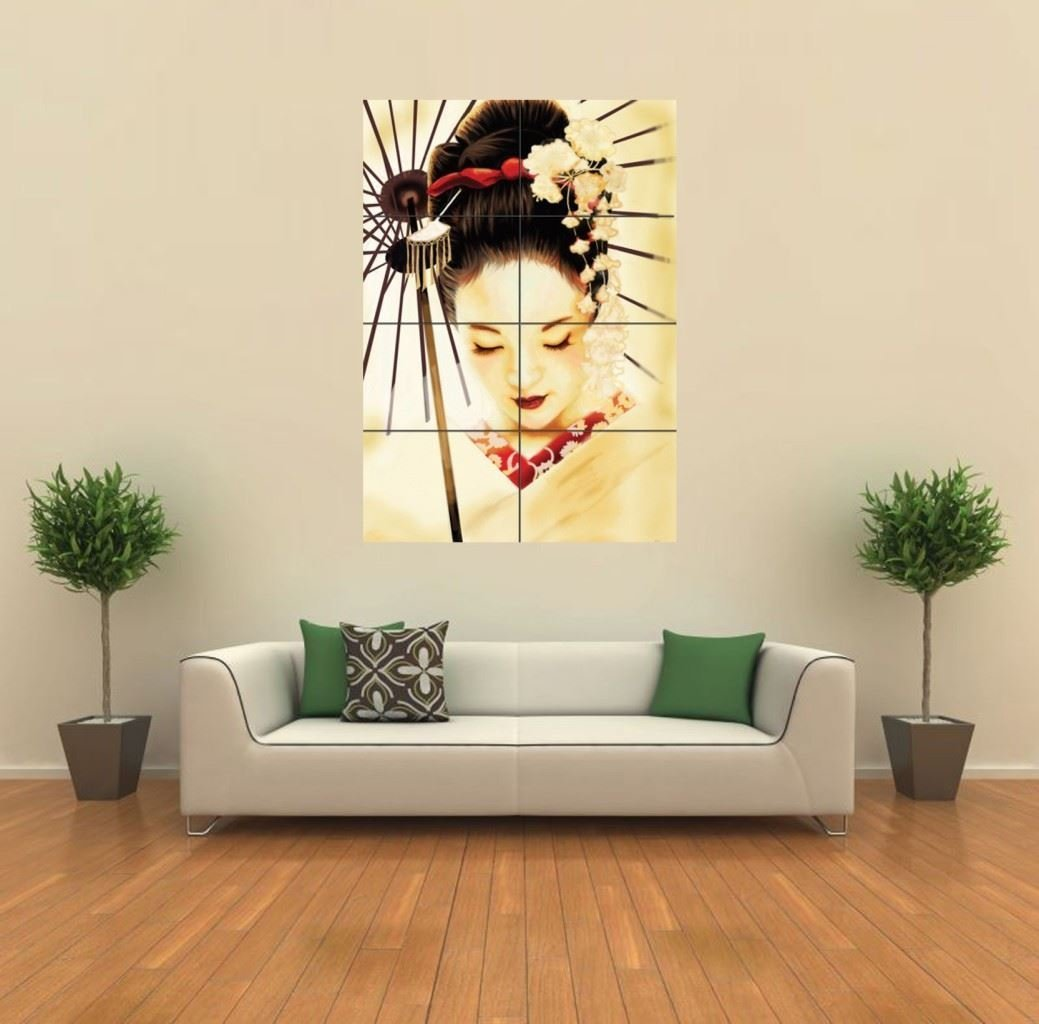 Amazoncom GEISHA JAPANESE NEW GIANT WALL ART PRINT POSTER G - Japanese wall decals