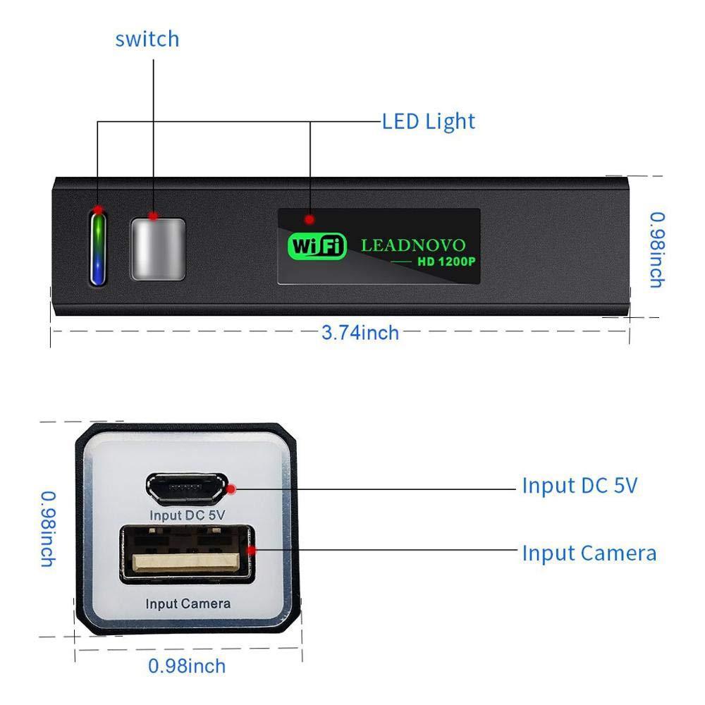 Tablet semirigida WiFi endoscopio fotocamera 1200P HD Snake con 8/luci LED per iOS Android Smartphone EFUTONPRO telecamera di controllo WiFi