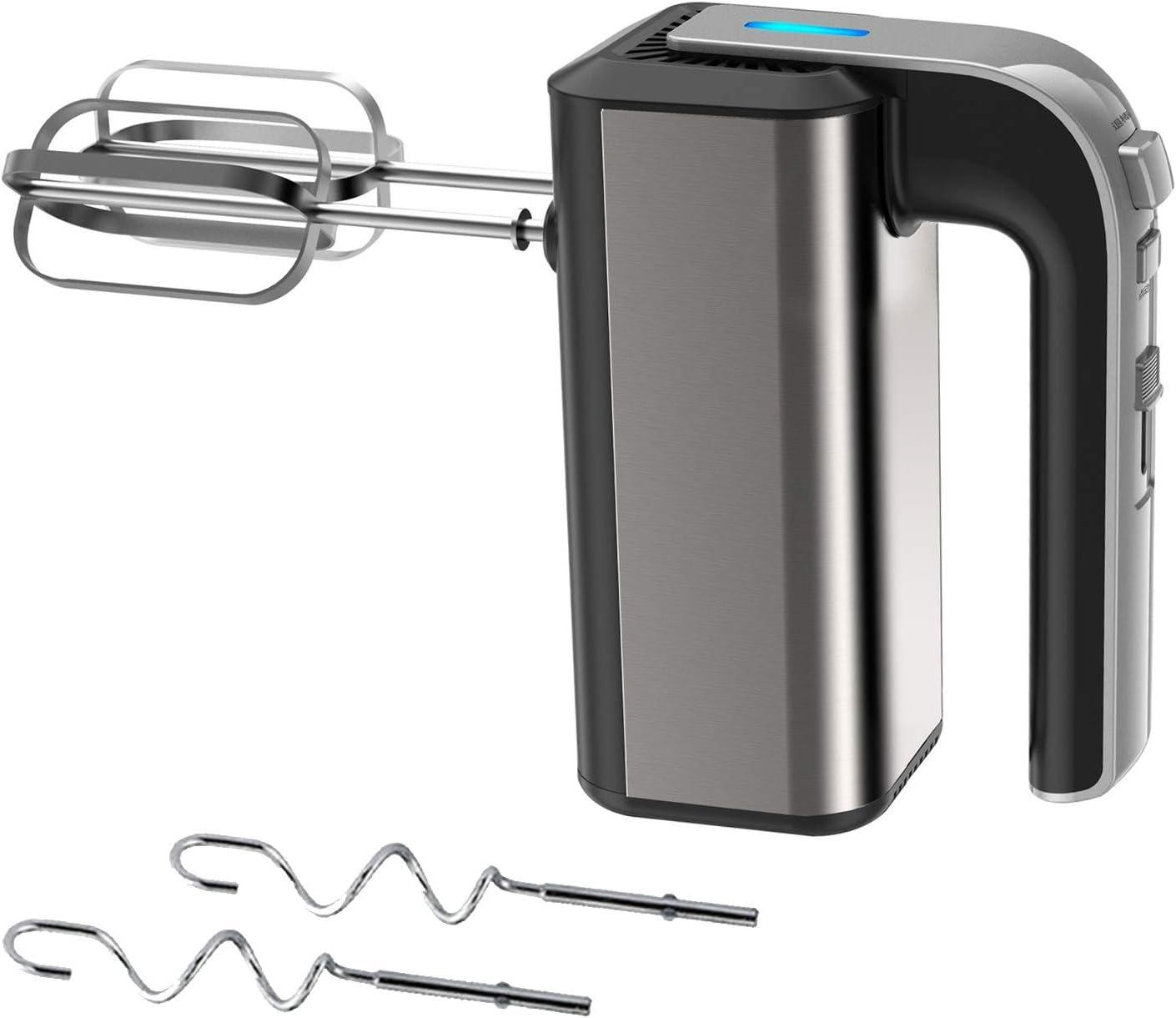 450 W asta di agitazione frusta elettrica e sbattitore a mano 2 pezzi sbattitore elettrico con 5 modalit/à di velocit/à frusta da cucina bastoncini di nozze. Sbattitore elettrico da cucina