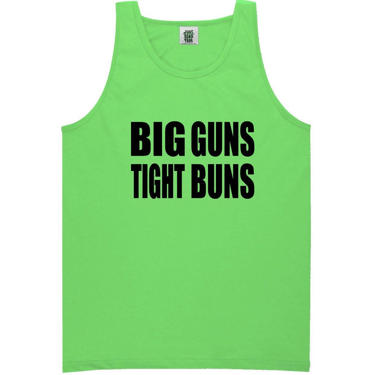 ZeroGravitee Big Guns Tight Buns Bright Neon Tank Top