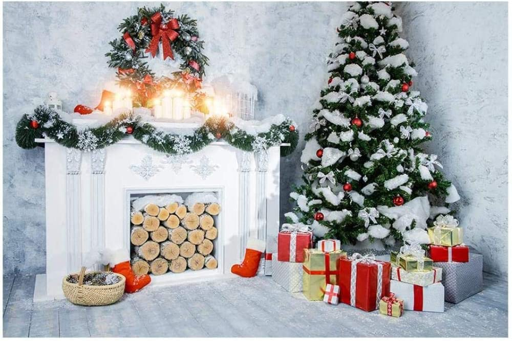 New Christmas Photo Background White Brick Wall Studio Photography Backdrop Xmas Party Decor Home Photoshoot Children Photographic Props 7x5ft xt-6240-polyester/_15