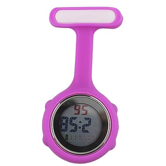 Reloj de enfermera digital (púrpura)