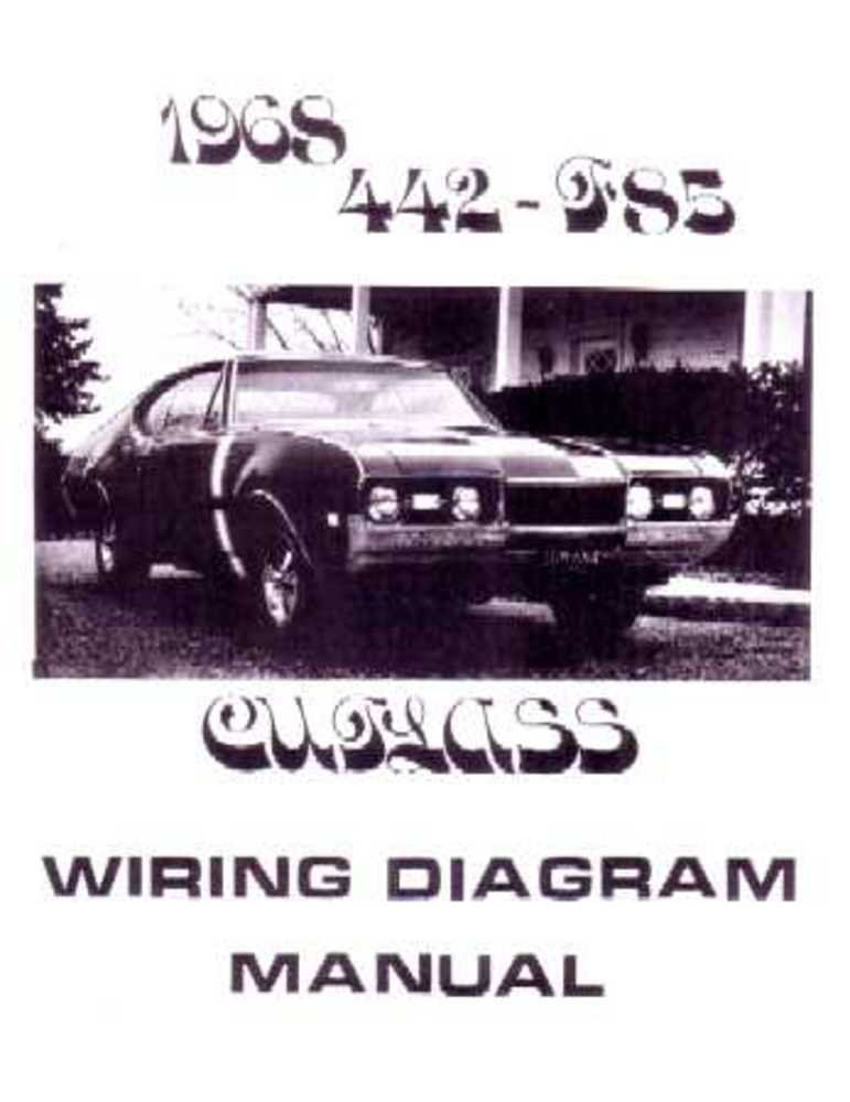 bishko automotive literature 1968 oldsmobile 442 cutlass f 1968 car wiring diagram wiring diagram