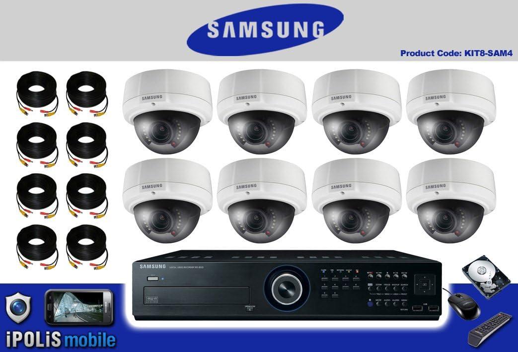 AV5-8 para cámara CCTV sistema de seguridad Samsung DVR Kit 4