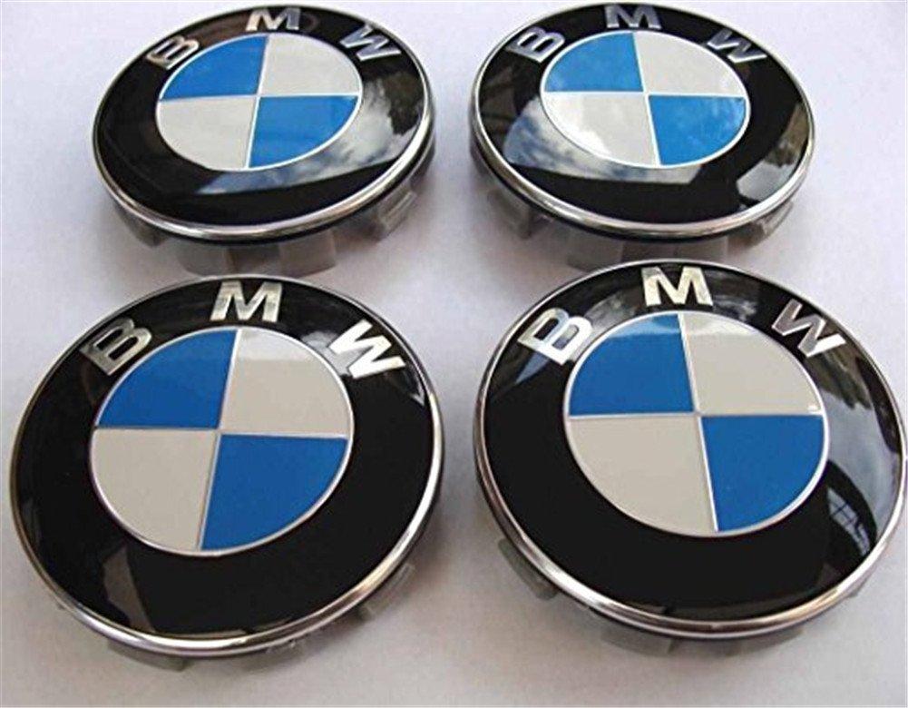 Juego de 4 tapacubos para llantas de aluminio con logo de BMW, 68 mm: Amazon.es: Coche y moto