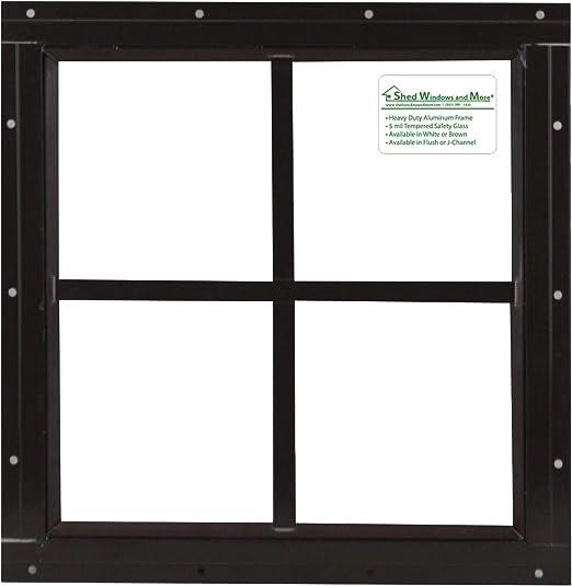 SQUARE SHED WINDOW-12X12-WHITE-J-LAP