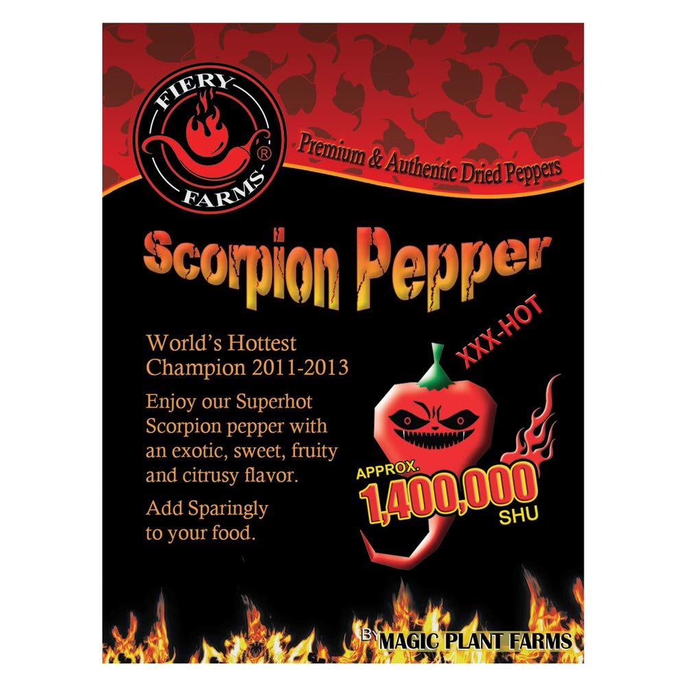Dry Trinidad Scorpion Butch T powder   Grounded Trinidad Scorpion Peppers (1kg)