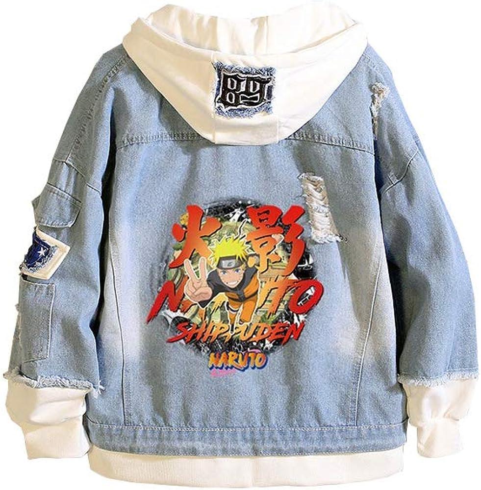 GOYING Naruto Uchiha Itachi Anime Sweater Coeds mit Jeansjacken C