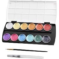 yotijar Watercolour Paint Set Art Artists 12 Colours Drawing Painting Kit Kids Adult