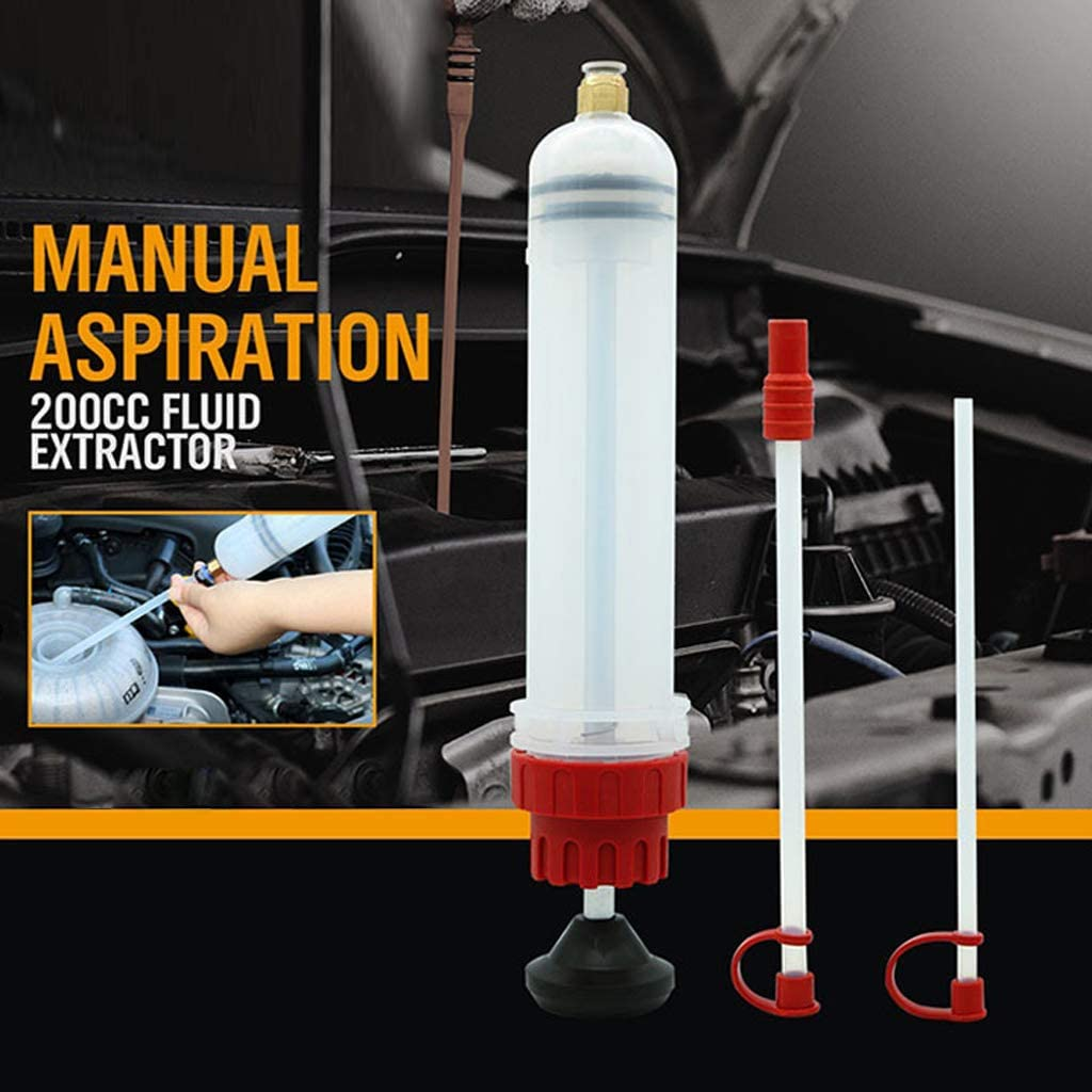 SALliang 200cc Car Oil Fluid Extractor Hand Transfer Pump Tools for Master Cylinders Reservoirs Brake Fluid Evacuating Topping Off