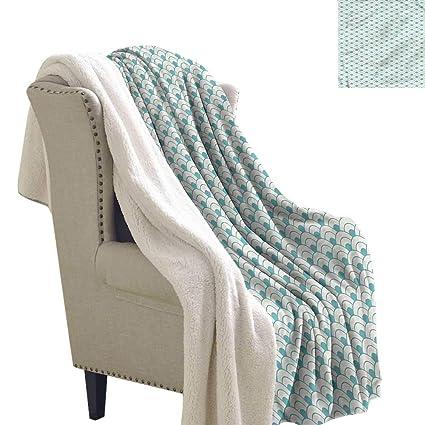 Amazon.com: Alexandear Ocean Flannel Bed Blankets Bold Circles Sea Inspired  Sherpa Throw 60x78 Inch: Home U0026 Kitchen